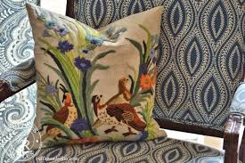 the embroidered throw pillow