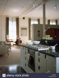 kitchen island cupboards modern kitchen detail hob and oven in kitchen island green cupboards