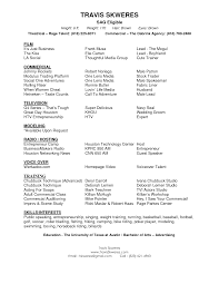 Theatre Resume Template Resume Talent Agent Resume