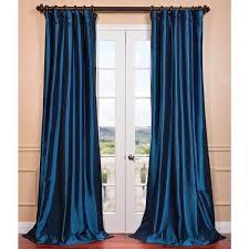 Teal Taffeta Curtains Exclusive Fabrics Azul Faux Silk Taffeta Pole Top Curtain Panel