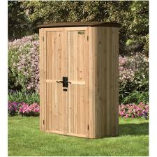 Lowes Outdoor Sheds by Backyards Compact Wood Outdoor Storage Shed Hybrid Cedar Garden