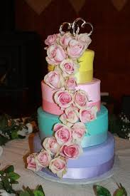 roses themed wedding cake blue ombre buttercream roses cake for