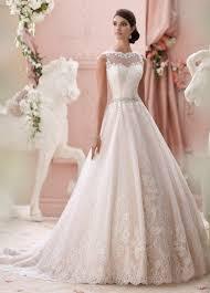 wedding dress illusion neckline beaded illusion neckline with lace wedding dress 115244 seraphina