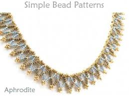 beading pattern necklace images Easy netted stitch necklace beading pattern by simple bead patterns jpg