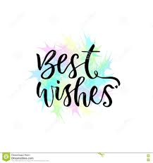 best wishes vector greeting card with lettering modern