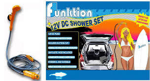 Portable Outdoor Shower Kit - 12v portable electric car auto camping hiking travel outdoor