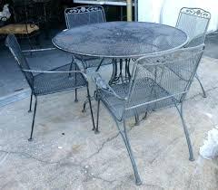 Wrought Iron Patio Tables Vintage Wrought Iron Furniture Metal Patio Set Black Metal Patio