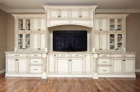White With Brown Glaze Kitchen by Off White Glazed Kitchen Cabinets Glass Front Upper Cabinets And