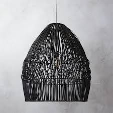 Wicker Pendant Light Black Wicker Pendant Light