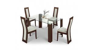 Glass Dining Table Chairs Dining Table With 4 Chairs Enchanting Decoration Dining Table