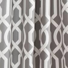 Grey And White Curtain Panels Edward Trellis Gray 95 Inch X 52 Inch Panel Pair Lush Decor Panels
