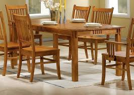 mission style dining room furniture burnished oak solid hardwood dining table sets with mission style
