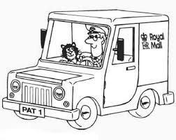 postman pat ride royal mail car coloring pages bulk color
