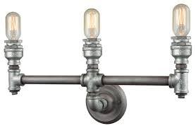 Felix 4 Light Cage Vanity - elk lighting cast iron pipe 3 light vanity weathered zinc