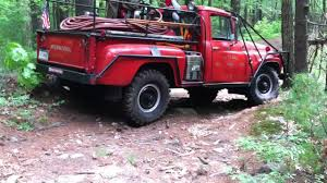 jeep brush truck 1962 international brush truck pt 1 youtube