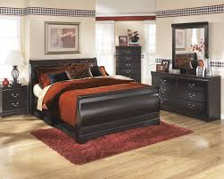 Ashley Porter Nightstand Bedroom Relax In The Soothing Space With Ashley Sleigh Bed