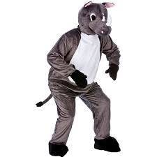 unisex deluxe big head animal zoo wild mascot fancy dress