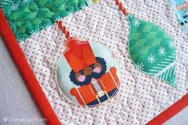 nutcracker ornament table runner allfreesewing