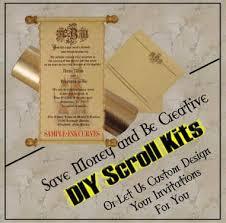 Diy Scroll Invitations Buy Online Scroll Kits Do It Yourself Invitation Scrolls