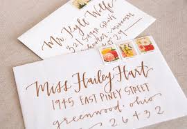 wedding invitations calligraphy wedding calligraphy envelope addressing copper modern