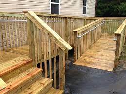 How To Build A Banister How To Add Ada Railing To A Wooden Access Ramp Simplified Building