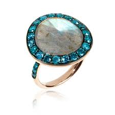 rings blue diamond engagement antique wedding bands art deco