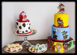 paw patrol birthday cake coordinating smash cake