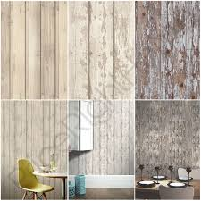 arthouse wood effect wallpaper white washed skandi plank cabin