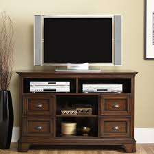 tv stand glass doors shabby brown varnished teak wood tall tv stand for bedroom with