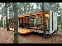 modern cabins casa cher concrete glass and pine trees youtube