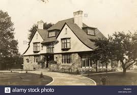 english tudor cottage stone u0026 stucco english tudor mansion stock photo royalty free