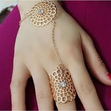 fashion long rings images Luxury artificial crystal gold color round rings for women gift jpg