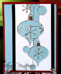 silvery hanging ornaments card outside the box