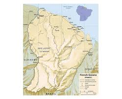 Map Of France With Major Cities by Maps Of French Guiana Detailed Map Of French Guiana In English