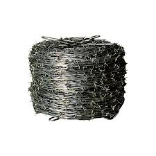 shop sierra actual 1320 ft x 1 ft barbed wire silver steel