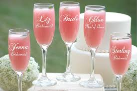asking bridesmaid gifts 8 bridesmaid gifts personalized chagne flutes bridal party