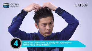 greaser hairstyle product gatsby styling grease rude lock technique video youtube