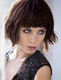 blunt fringe hairstyles shaggy bob haircuts with blunt bangs popular haircuts