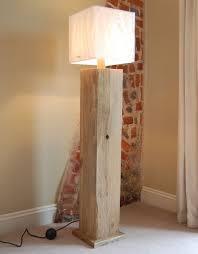reclaimed wooden floor lamp wowpieces