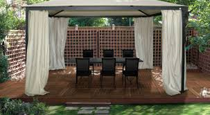 Gazebo Curtain Ideas by Graceful Mimosa Semi Permanent Gazebo Review Tags Permanent