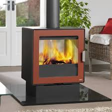 logfire lf10 wood burning double sided stove fireplace products