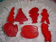 tupperware plastic christmas cookie cutters ebay