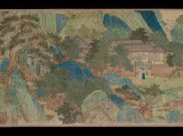 Yuan Dynasty Map Peach Blossom Spring Taohua Yuan Poem By Tao Qian 365 U2013427