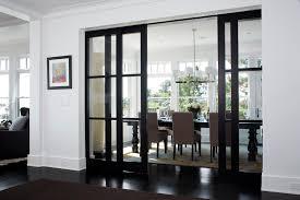 awesome black interior doors completing elegant room design