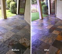 Sealing A Flagstone Patio by Slate Floor Refinishing Houston Bizaillion Floors
