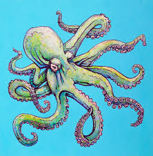 how to paint an octopus with acrylic