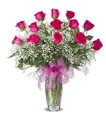 florist gainesville fl hot pink dozen roses arranged in gainesville fl floral expressions