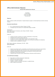 sample resume office administrator sample resumes for