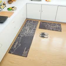 tapis cuisine lot de 2 tapis de cuisine devant évier 45 x 120cm 40 x 60cm tapis