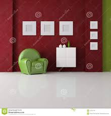 red and green living room royalty free stock photo image 12441565